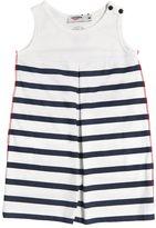Junior Gaultier Striped Print Cotton Jersey Dress