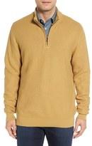 Cutter & Buck Men's Big & Tall 'Benson' Quarter Zip Textured Knit Sweater