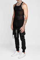 Rick Owens Ribbed Tank with Silk