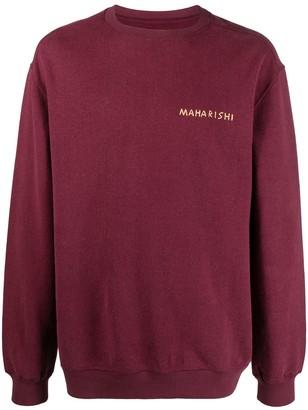 MHI Logo-Print Round Neck Sweatshirt