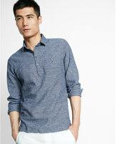 Express linen blend popover shirt