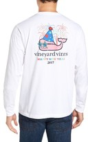 Vineyard Vines Men's New Year's Whale T-Shirt