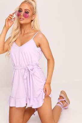 I SAW IT FIRST Lilac Tie Waist Cami Dress