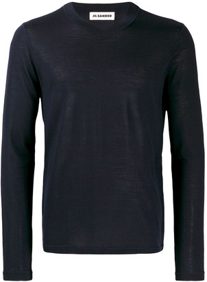 Jil Sander Long-Sleeve Fitted Sweater