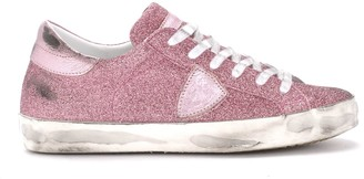 Philippe Model Paris Pink Glitter Sneaker