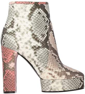Casadei Ankle Boots In Python-print Leather