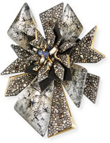 Alexis Bittar Crystal Perennial Punk Pin
