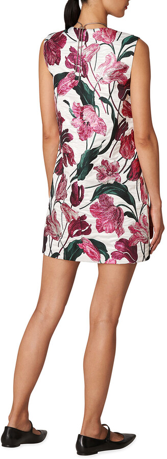 Thumbnail for your product : Carolina Herrera Tulip Metallic Jacquard Shift Dress