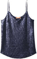 Joe Fresh Women's Sequin Front Camisole, Navy (Size M)