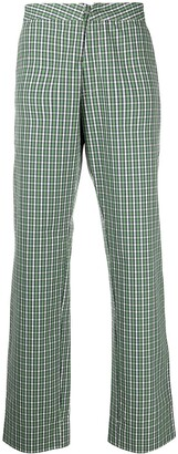 Walter Van Beirendonck Pre-Owned Royal check straight-leg trousers