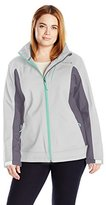 Free Country Women's Plus Size Softshell Cubic Dobby Active Body