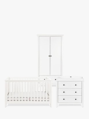 Silver Cross Nostalgia Cotbed, Dresser and Wardrobe, White