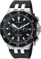 Edox Men's 'Delfin' Quartz Stainless Steel and Rubber Dress Watch, Color: (Model: 10109 357NCA NIN)
