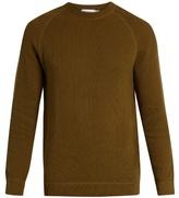 Sunspel Crew-neck rack-stitched cotton sweater