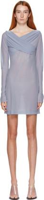 Nensi Dojaka SSENSE Exclusive Blue Draped Dress