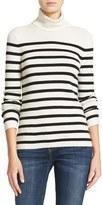Equipment Women's Wilder Stripe Silk & Cashmere Blend Turtleneck