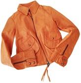 Patrizia Pepe Orange Leather Leather Jacket for Women