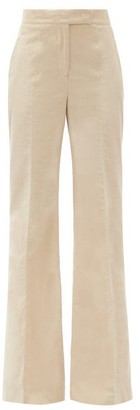 Gabriela Hearst Leda Flared Organic Cotton-corduroy Trousers - Beige
