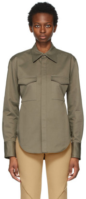 Dion Lee Khaki Belted Utility Shirt