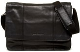 James Campbell Leather Messenger Bag