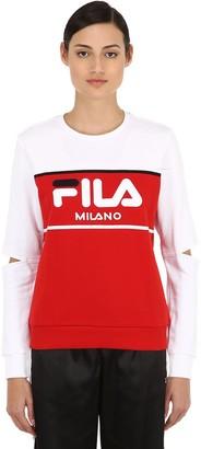 Fila Urban Logo Color Block Cutout Sweatshirt