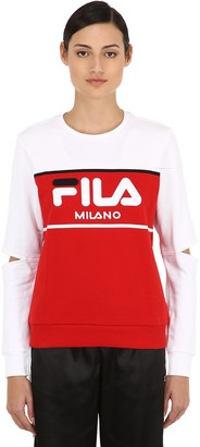 Logo Color Block Cutout Sweatshirt