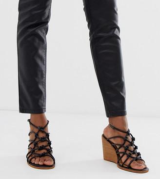 ASOS DESIGN Wide Fit Zoe wedge sandals