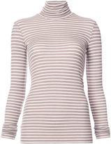 ATM Anthony Thomas Melillo striped turtleneck slim-fit blouse - women - Cotton - XS