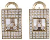 Chopard Happy Diamonds 18K Yellow Gold Diamond Earrings