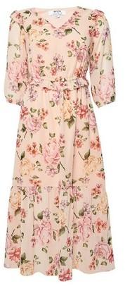 Dorothy Perkins Womens Dp Petite Multi Colour Floral Print Maxi Dress, Multi Colour