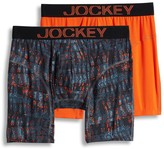 Jockey Men's 2-pack Athletic RapidCool Microfiber Stretch Boxer Briefs