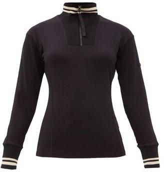 Bogner Dimitra Striped Stretch-jersey Base-layer Top - Black