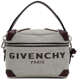 Givenchy Grey and Burgundy Coffer Box Messenger Bag