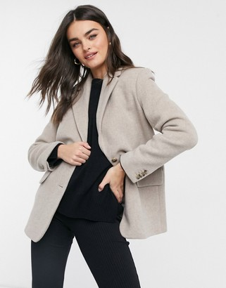 And other stories & oversized wool blazer in beige