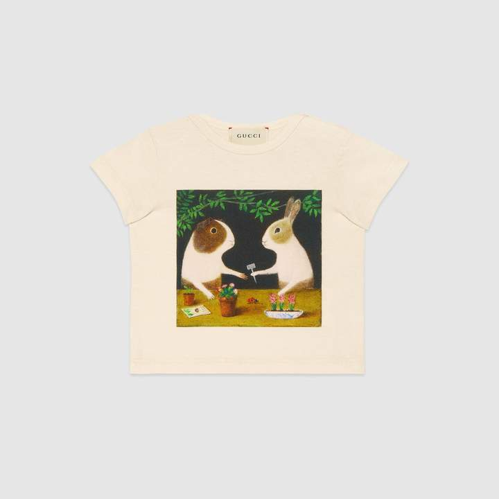 Gucci Baby T-shirt with bunnies print