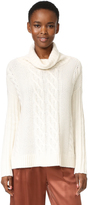 TSE Long Sleeve Cashmere Poncho Sweater