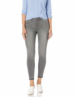 Vince Camuto Women's Grey Five Pocket Released Hem Jean