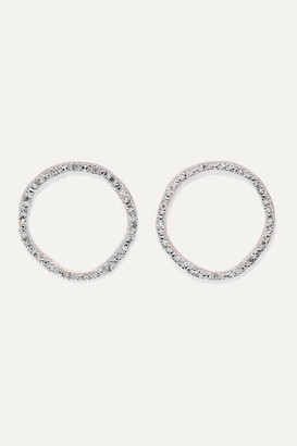 Monica Vinader Riva Rose Gold Vermeil Diamond Earrings