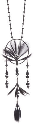 Valentino Glam Dream Catcher & Feather Pendant Necklace