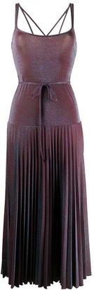 M Missoni Pleated Skirt Tie Waist Dress