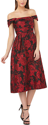 Carmen Marc Valvo Brocade Party Dress