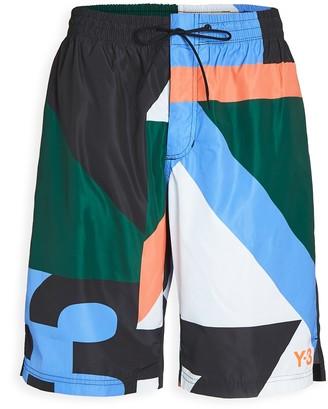 Y-3 Logo Neon Swim Shorts