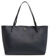 Tory Burch 'York' Buckle Tote - Blue