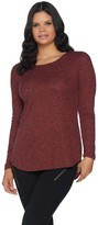 Lisa Rinna Collection Tulip Hem Long Sleeve Knit Top