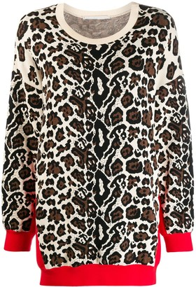 Stella McCartney Leopard Print Jumper