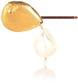Alighieri Apollos Dance 24kt gold-plated and pearl hair clip