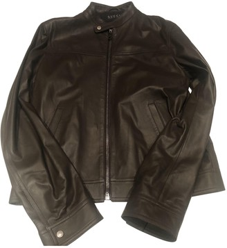 Gucci Brown Leather Jackets