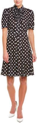 Michael Kors Silk A-Line Dress