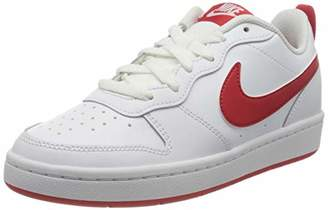 Nike Boys Court Borough Low 2 (gs) Basketball Shoes, White (White/University Red 103)
