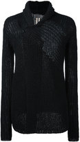Rick Owens cowl neck cardigan - men - Cotton - 50